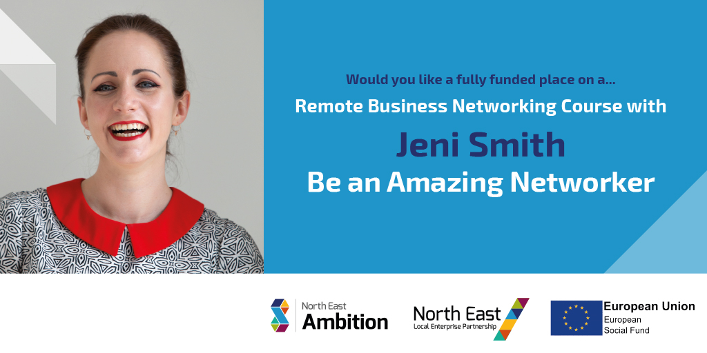 Fully Funded access to: Be an Amazing Networker with Jeni Smith: Remote Business Networking Course