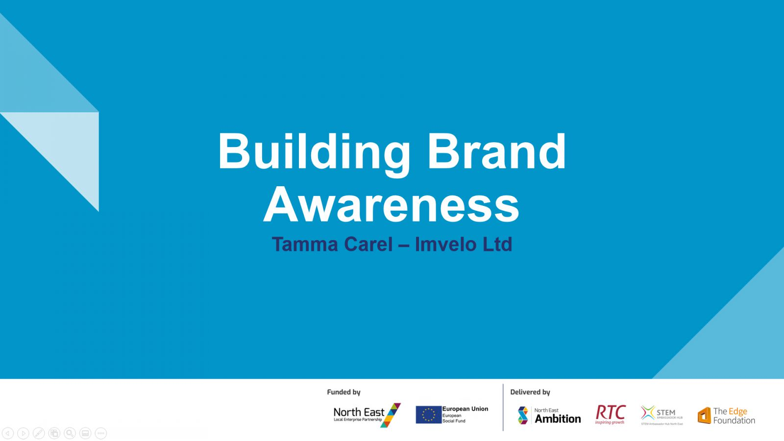 Working with young people can build brand awareness - Tamma Carel from Imvelo